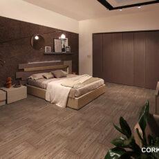 Пробковый пол в спальне
