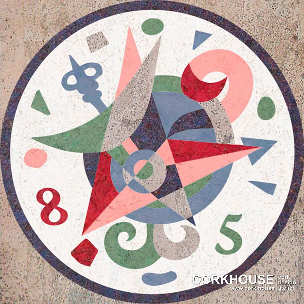"""""""Clock"""" техника - Маркетри"""
