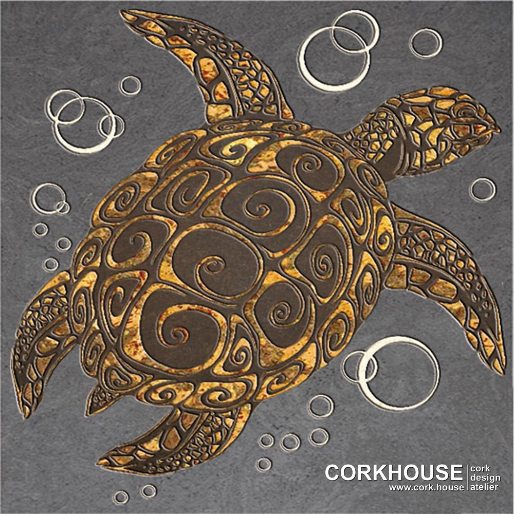 """""""Sea turtle"""" техника - Принт"""