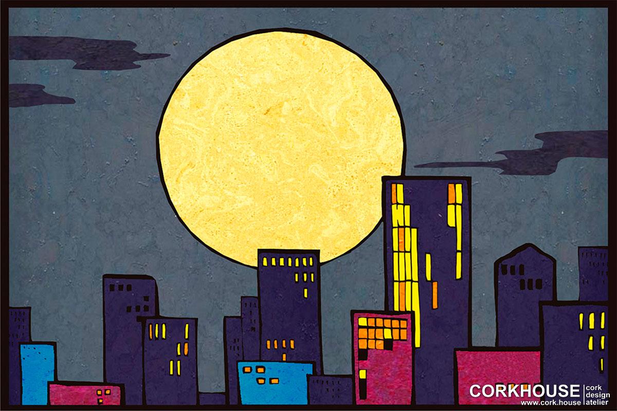 """City lights"" техника - Мозаика"