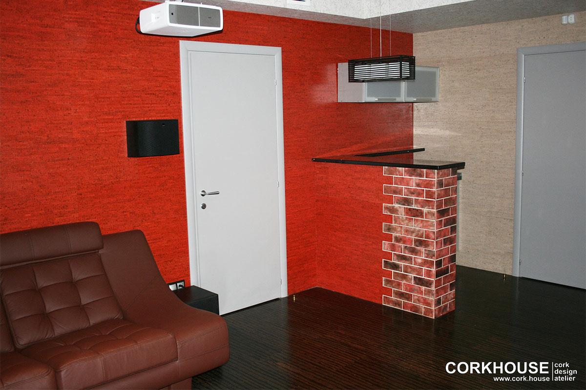 изоляция стен клеевой пробкой