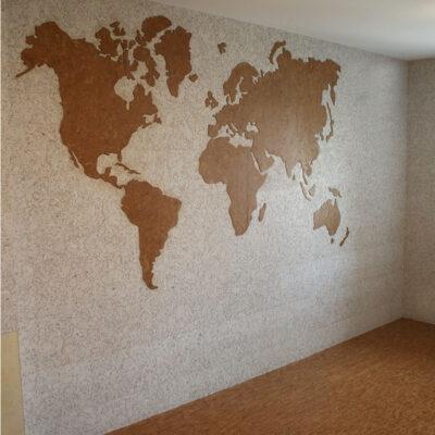 настенная пробка в виде карты мира