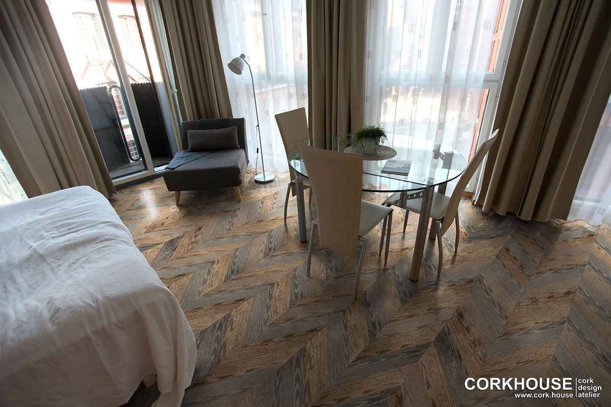 пробковые полы с текстурой дерева