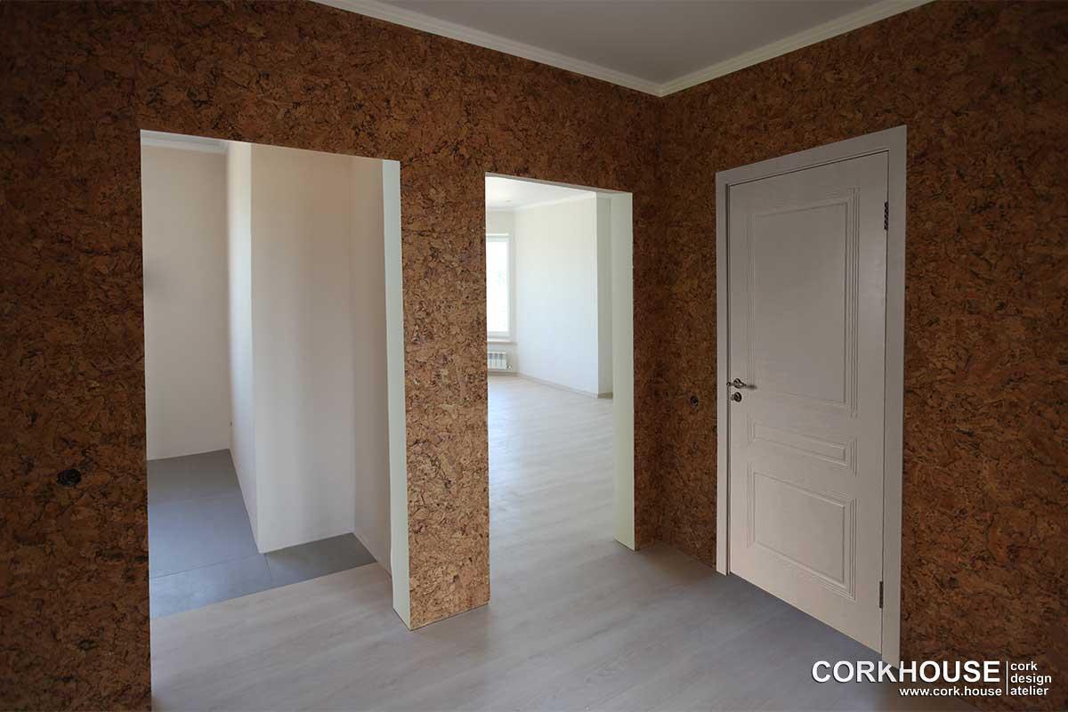 стеновая пробка в интерьере